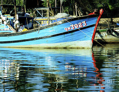 Photograph - Hoi An Fishing Boat 01 by Rick Piper Photography