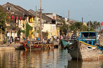 Photograph - Hoi An Fishing Boats 02 by Rick Piper Photography