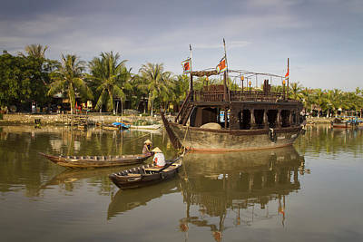 Hoi An River Boats Art Print