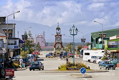 Welded Photograph - Hokitika Street Scene West Coast New Zealand by Colin and Linda McKie