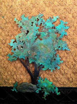 Hokkidachi Copper Bonsai Print by Vanessa Williams
