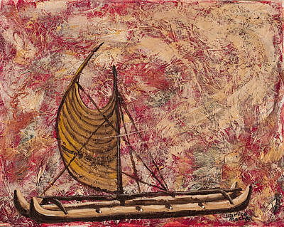 Canoe Mixed Media - Hokulea by Darice Machel McGuire