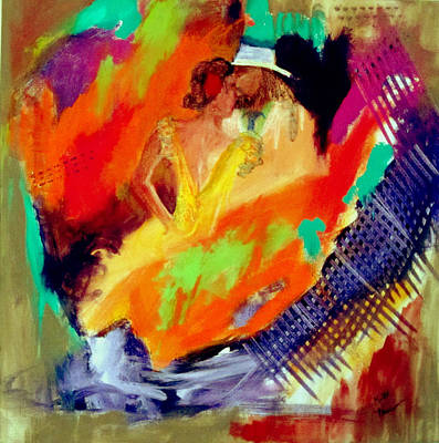 Painting - Hold Me In Your Arms Like A Spanish Guitar by Keith Thue