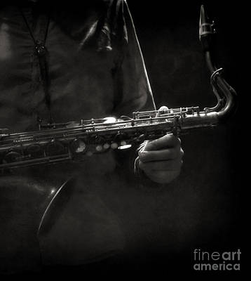 Hold On To Your Sax Art Print by Michel Verhoef