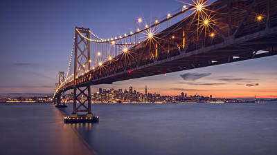 Bay Bridge Digital Art - Hold Onto The Night by Eduard Moldoveanu