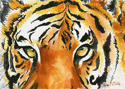 Wall Art - Painting - Hold That Tiger by Karen Mattson