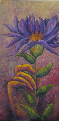 Tree Roots Painting - Holding Beauty by Sharon Lacy-Huff