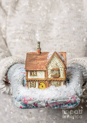 Woollen Photograph - Holding Country Cottage by Amanda Elwell