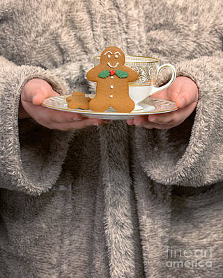 Bathrobe Photograph - Holding Gingerbread Biscuits by Amanda Elwell