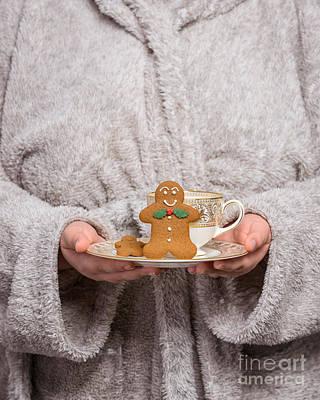 Bathrobe Photograph - Holding Gingerbread by Amanda Elwell