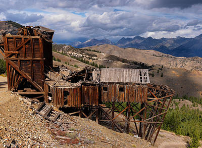 Mining Photograph - Holding On by Leland D Howard