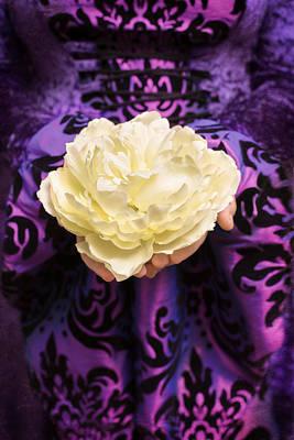 Holding Rose Art Print by Amanda Elwell