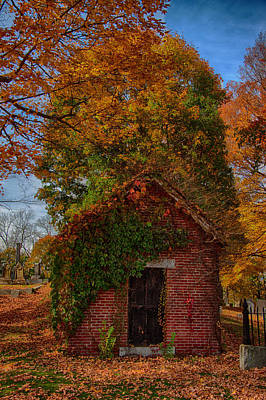 Holding Up The  Fall Colors Art Print by Jeff Folger