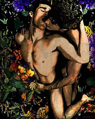 Holding Your Flower - 2 Art Print
