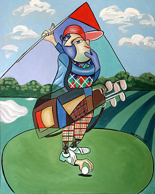 Golf Art Painting - Hole In One by Anthony Falbo