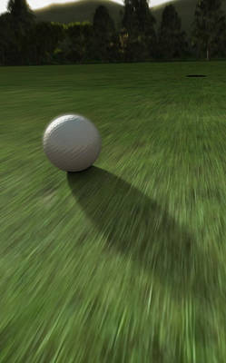 Ball Digital Art - Hole In One by Cynthia Decker