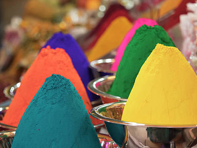 Karnataka Photograph - Holi Powder Paint For Sale In Mysore by David H. Wells