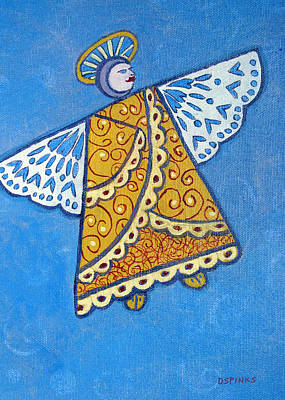 Painting - Holiday Angel by Debra Spinks