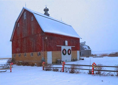 Photograph - Holiday Barn by Coby Cooper