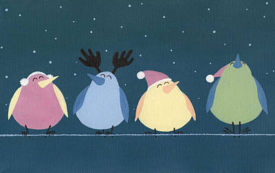 Painting - Holiday Birds by Natasha Denger