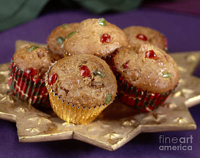 Sweet Bread Photograph - Holiday Candies Fruit Muffins by Iris Richardson