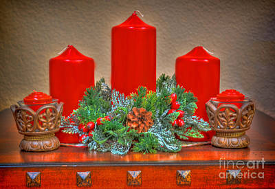 Photograph - Holiday Candles by Donna Greene