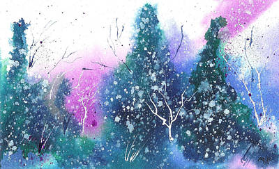 Winter Solstice Painting - Holiday Card 10 by Nelson Ruger