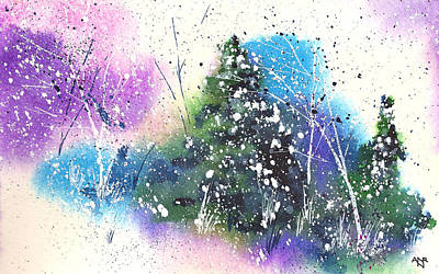Winter Solstice Painting - Holiday Card 18 by Nelson Ruger