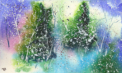 Winter Solstice Painting - Holiday Card 22 by Nelson Ruger