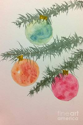 Painting - Holiday Card 3 by Eunice Miller