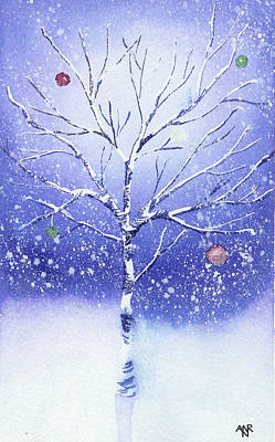Moonglow Painting - Holiday Card 8 by Nelson Ruger