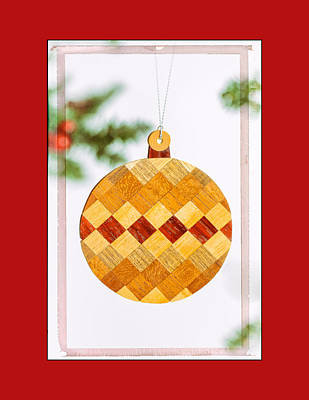 Photograph - Holiday Diamond Pattern Art Ornament In Red by Jo Ann Tomaselli