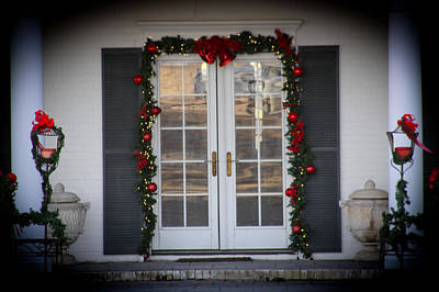 Digital Art - Holiday Door Decor by Audreen Gieger