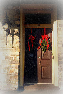 Photograph - Holiday Door by Joseph Skompski