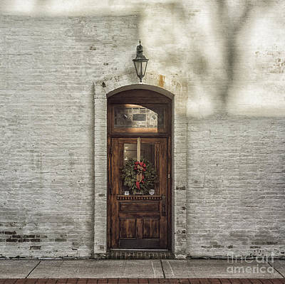 Holiday Door Art Print by Terry Rowe