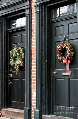 Photograph - Holiday Doors by John Rizzuto