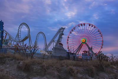 Holiday Ferris Wheel Art Print