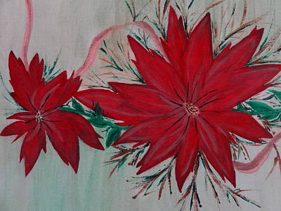 Painting - Holiday Flowers by Nancy Fillip