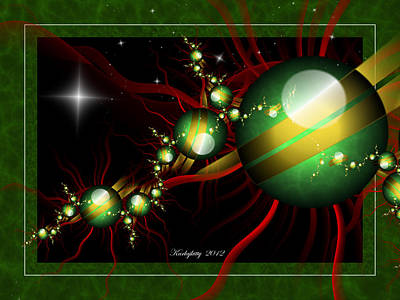 Digital Art - Holiday Fractal 2012 by Karla White