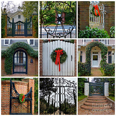 Holiday Gates Of Aiken's Winter Colony Art Print