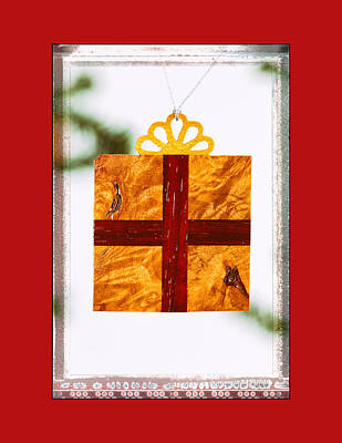 Photograph - Holiday Gift Box Art Ornament In Red by Jo Ann Tomaselli