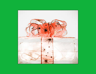 Photograph - Holiday Glass Gift Box II With Red Bow by Jo Ann Tomaselli