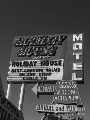 Las Vegas Wedding Photograph - Holiday House Motel Las Vegas 2013 by Edward Fielding