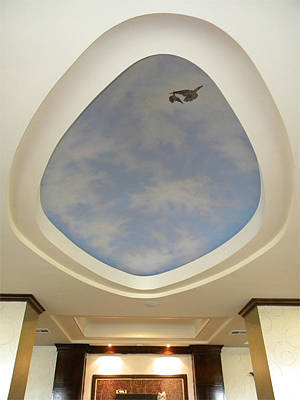 Glow In The Dark Painting - Holiday Inn Express Ceiling Dome Mural by Frank Wilson