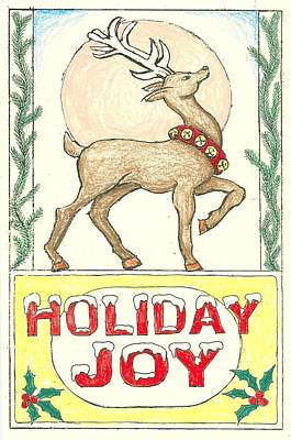 Drawing - Holiday Joy by Ralf Schulze