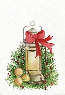 Green Lantern Painting - Holiday Lantern II by Kathleen Parr Mckenna