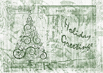 Digital Art - Holiday Letter by Shelley Bain