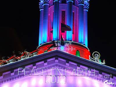 During Christmas Time Photograph - Holiday Lights 2012 Denver City And County Building E4 by Feile Case