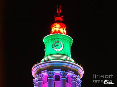 Thousands Of Colorful Lights Photograph - Holiday Lights 2012 Denver City And County Building F2 by Feile Case