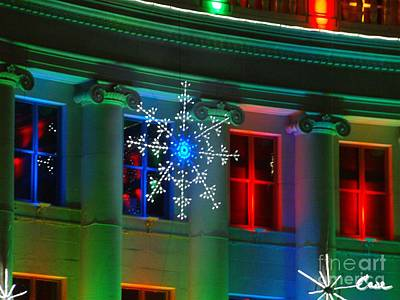 During Christmas Time Photograph - Holiday Lights 2012 Denver City And County Building H1 by Feile Case